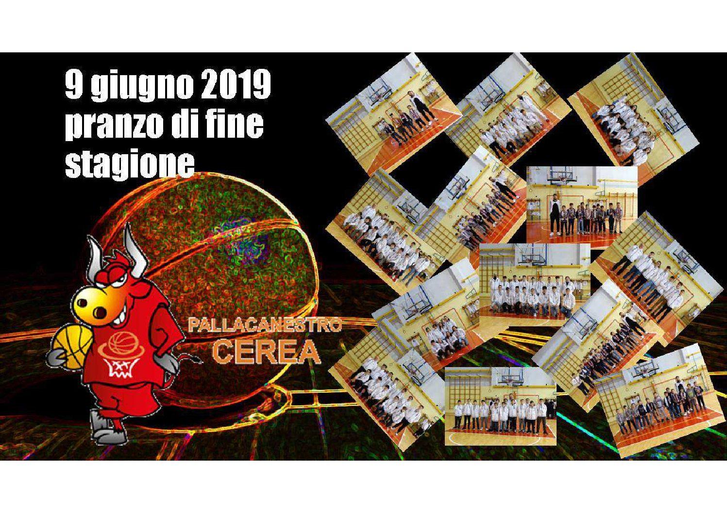 PRANZO CHIUSURA STAGIONE SPORTIVA 2018-2019