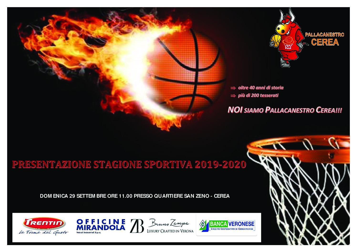 PRESENTAZIONE STAGIONE SPORTIVA 2019-2020